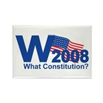 W 2008-What Constitution? Rectangle Magnet