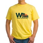 W 2008-What Constitution? Yellow T-Shirt
