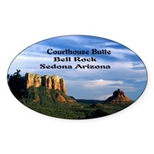 Courthouse Butte and Bell Rock14x10 Decal