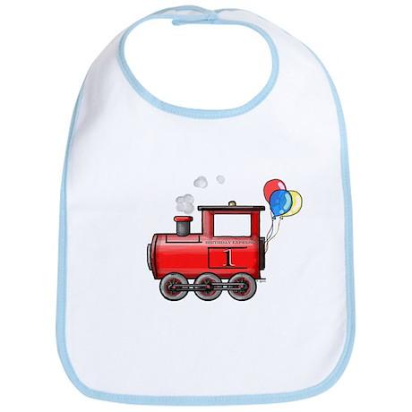 1st Birthday Train Bib