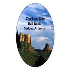 Courthouse Butte and Bell Rock5.5x8 Decal