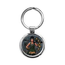 Clare Round Keychain