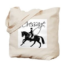 Dressage Horse Canter, Saying Tote Bag