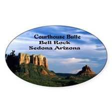 Courthouse Butte and Bell Rock12x9 Decal