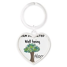 Hospice dedicated to well being Heart Keychain