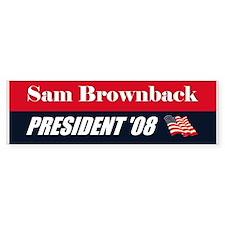 Sam Brownback 2008 President Bumper Bumper Sticker