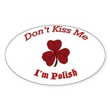 St. Patrick's Day For Us Poli Oval Decal
