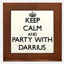 Keep Calm and Party with Darrius Framed Tile