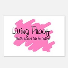Living proof Breast cancer ca Postcards (Package o