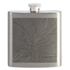 Dark Grey Abstract Floral Flask