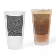 Dark Grey Abstract Floral Drinking Glass