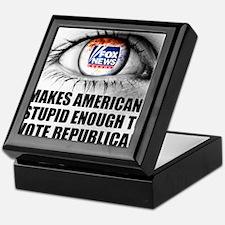 Fox News Makes American Stupid Enough Keepsake Box