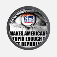 Fox News Makes American Stupid Enough t Wall Clock