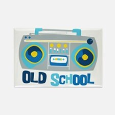 Old School Boom Box Rectangle Magnet