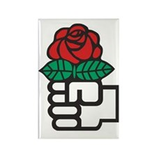 424px-Red_Rose_(Socialism) Rectangle Magnet