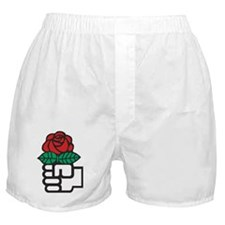 424px-Red_Rose_(Socialism) Boxer Shorts