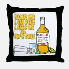 3-Tequila Throw Pillow