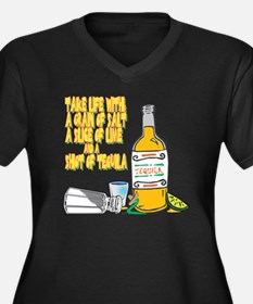 3-Tequila Women's Plus Size Dark V-Neck T-Shirt