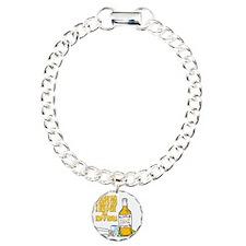 3-Tequila Charm Bracelet, One Charm
