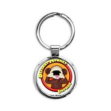 Defiant Monkey White Shirt Round Keychain