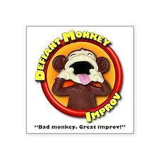 """Defiant Monkey White Shirt Square Sticker 3"""" x 3"""""""