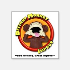 "Defiant Monkey White Shirt Square Sticker 3"" x 3"""