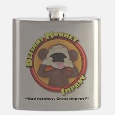 Defiant Monkey White Shirt Flask