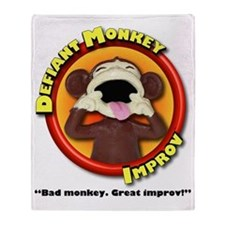 Defiant Monkey White Shirt Throw Blanket