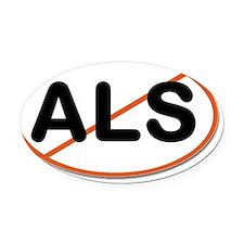 ALS crossout Oval Car Magnet