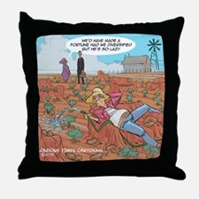 Couch Potato Farmer Throw Pillow