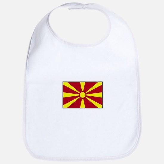 Macedonia Flag Bib