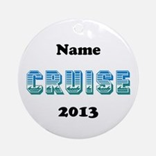 Cruise (Personalized) Ornament (Round)