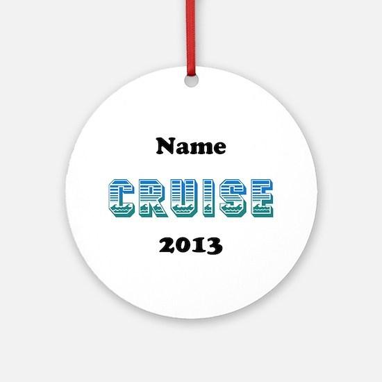Cruise (Personalized) Ornament (Round)