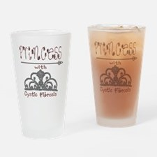 Cystic Fibrosis Princess Drinking Glass