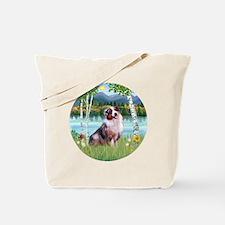 Birches (R) - Australian Shepherd 1 Tote Bag
