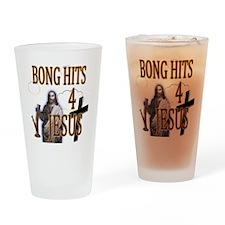 bonghits4jesusshirt10c copy Drinking Glass