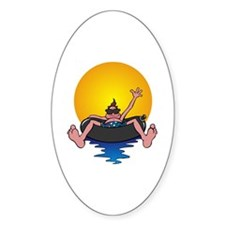 Tubing down the River Oval Decal