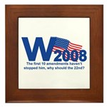 W in 2008 Joke Framed Tile