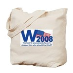 W in 2008 Joke Tote Bag