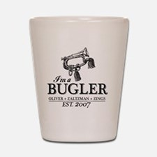 bugler t-shirt Shot Glass