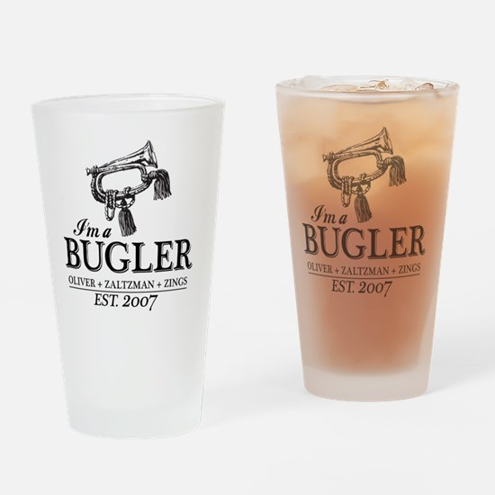 bugler t-shirt Drinking Glass