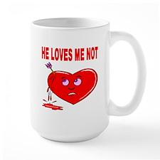He Loves Me Not Large Mug