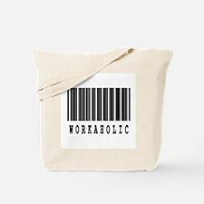 Workaholic Barcode Design Tote Bag