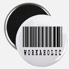 "Workaholic Barcode Design 2.25"" Magnet (10 pack)"