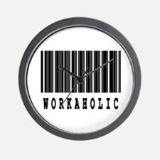 Workaholic Barcode Design Wall Clock