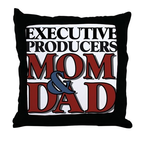 Executive Producers New Mom & Dad Throw Pillow