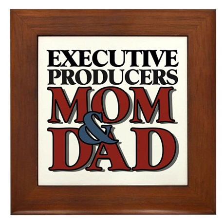 Executive Producers New Mom & Dad Framed Tile