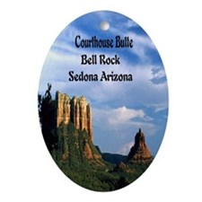 Courthouse Butte and Bell Rock3.25x6 Oval Ornament
