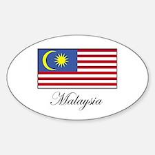 Malaysia - Malaysian Flag Oval Decal