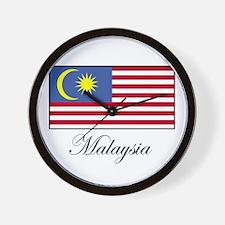 Malaysia - Malaysian Flag Wall Clock